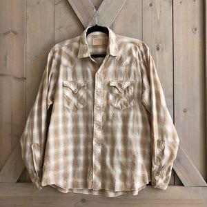 Vintage vtg Western shirt pearl snap Miller Denver